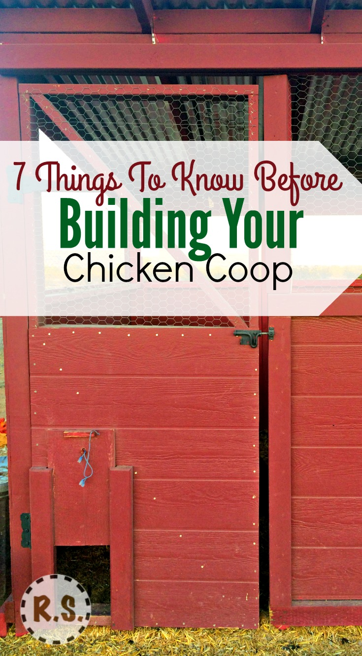 What chicken coop design are you going to use for your coop? You need to know what is needed in the coop...then with a few guidelines you can get started.