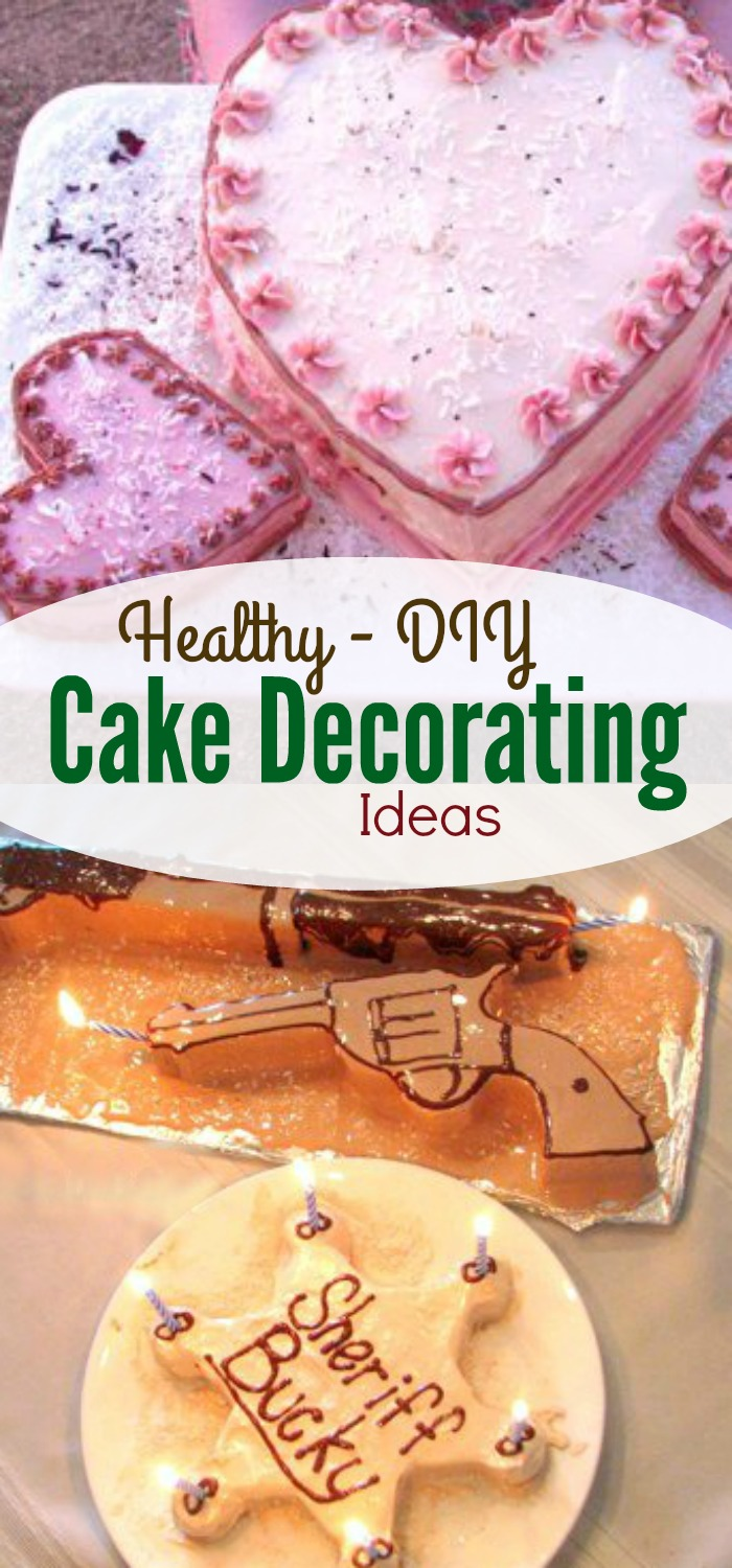 Cake decorating ideas? Fun! Here are a lot of great ideas for decorating cakes. Using healthy ingredients.