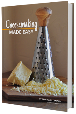 Cheese making always looked so complicated to me, until I got one book. An amazing book with 32 quick & easy cheese-making recipes you can make at home. A must for any organized cheese maker.