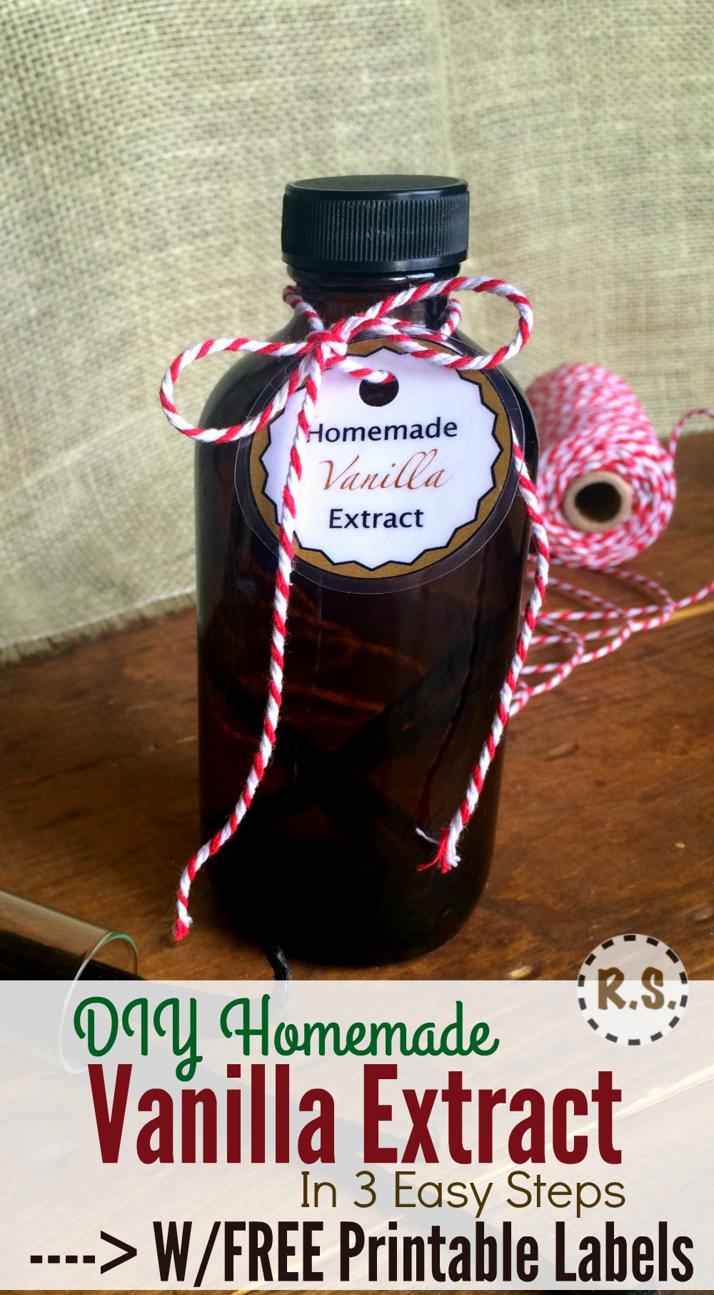 This vanilla extract recipe is easy to make yummy and homemade. An great DIY recipe that will give a delicious hint of vanilla to any batch of cookies. Use this extract in your favorite recipe!