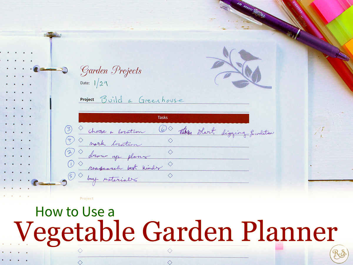 Ready to organize your garden? Learn how to use your 200+ page vegetable garden planner and get your garden organized even better this year. #gardeningforbeginners #gardeningbinder #gardeningplans