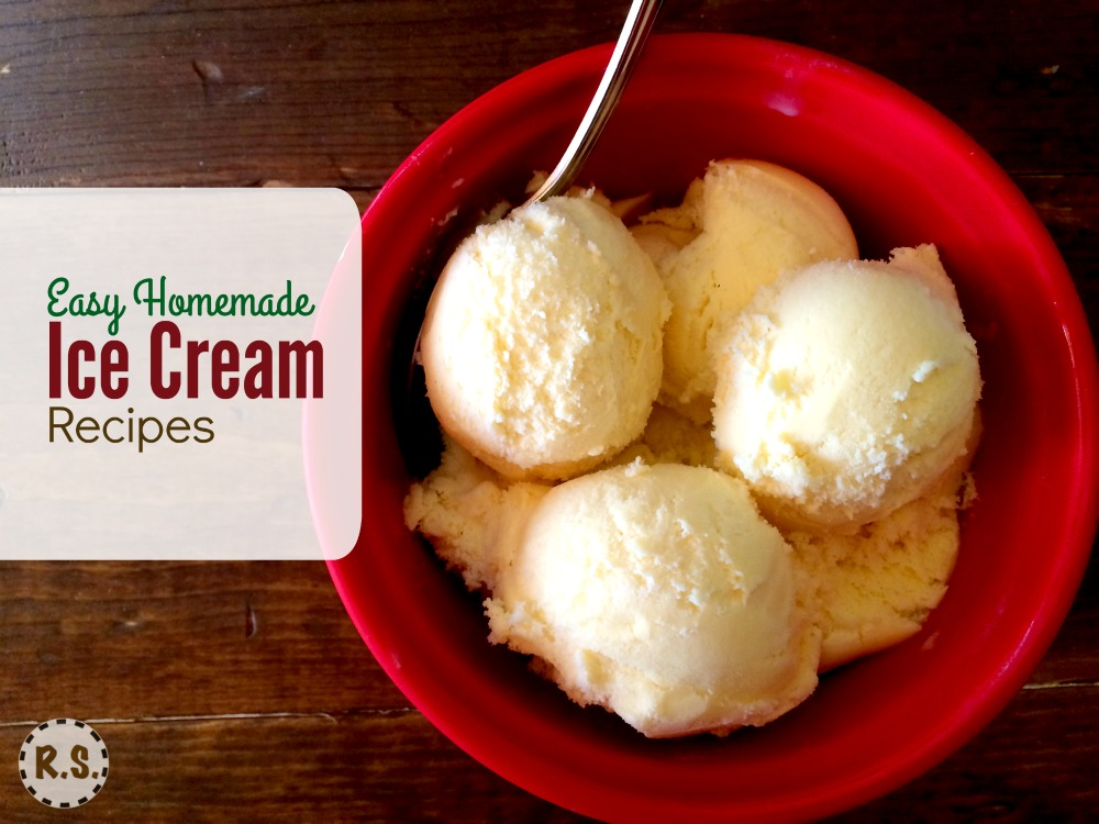 Enjoy making these easy ice cream recipes! There's nothing like good homemade ice cream. Especially when you are raising or growing the ingredients right in your backyard!