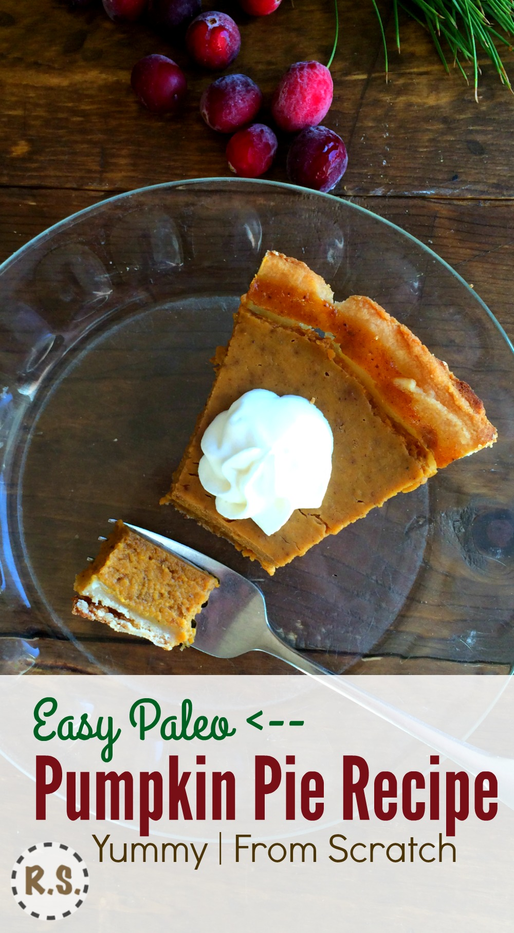 You'll love this easy to make paleo pumpkin pie. The delicious filling is the best. Love the rich, sweet flavor in this from scratch pie. Best of all it's homemade, gluten free and healthy.