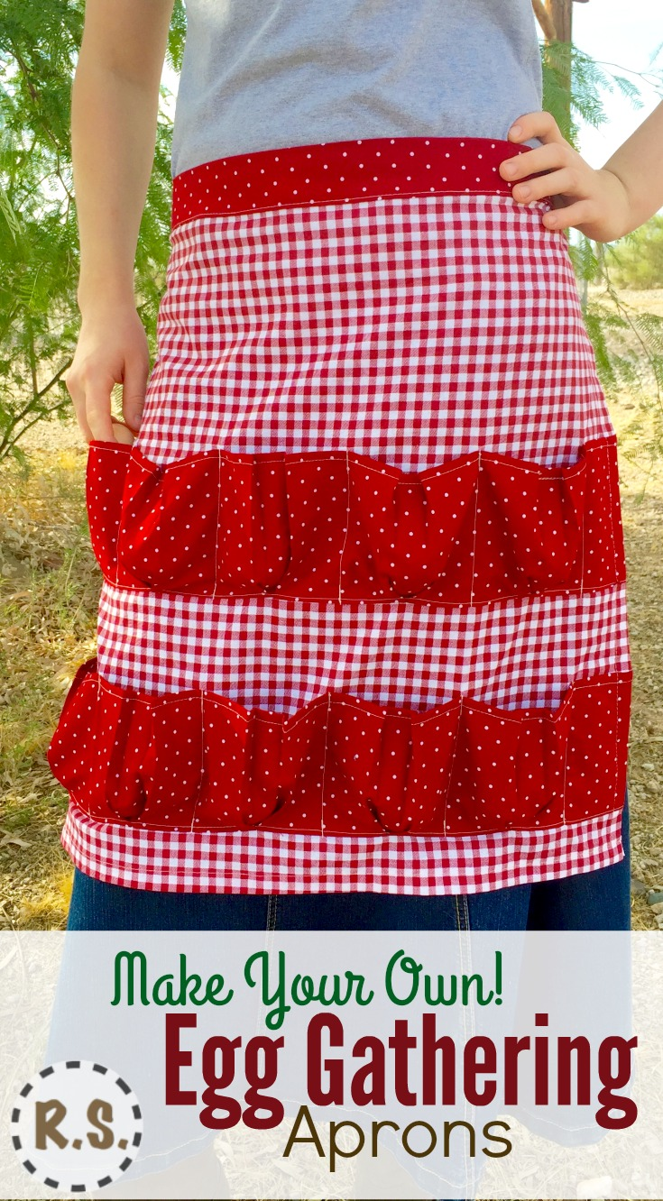 Make your own apron with this Egg Gathering Apron Pattern. Full of step-by-step instructions & detailed color photos. Easy for you to follow along & detailed to give you confidence as you proceed.